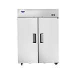 Atosa MBF8005GR Refrigerator, reach-in, two-section, top mount self-contained refrigeration
